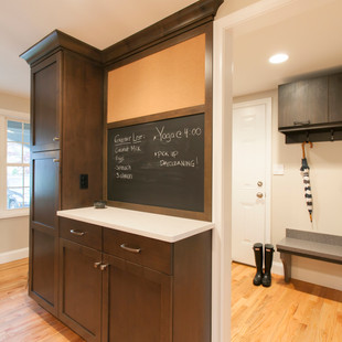 Mudroom Entrance into Family-Centered Kitchen