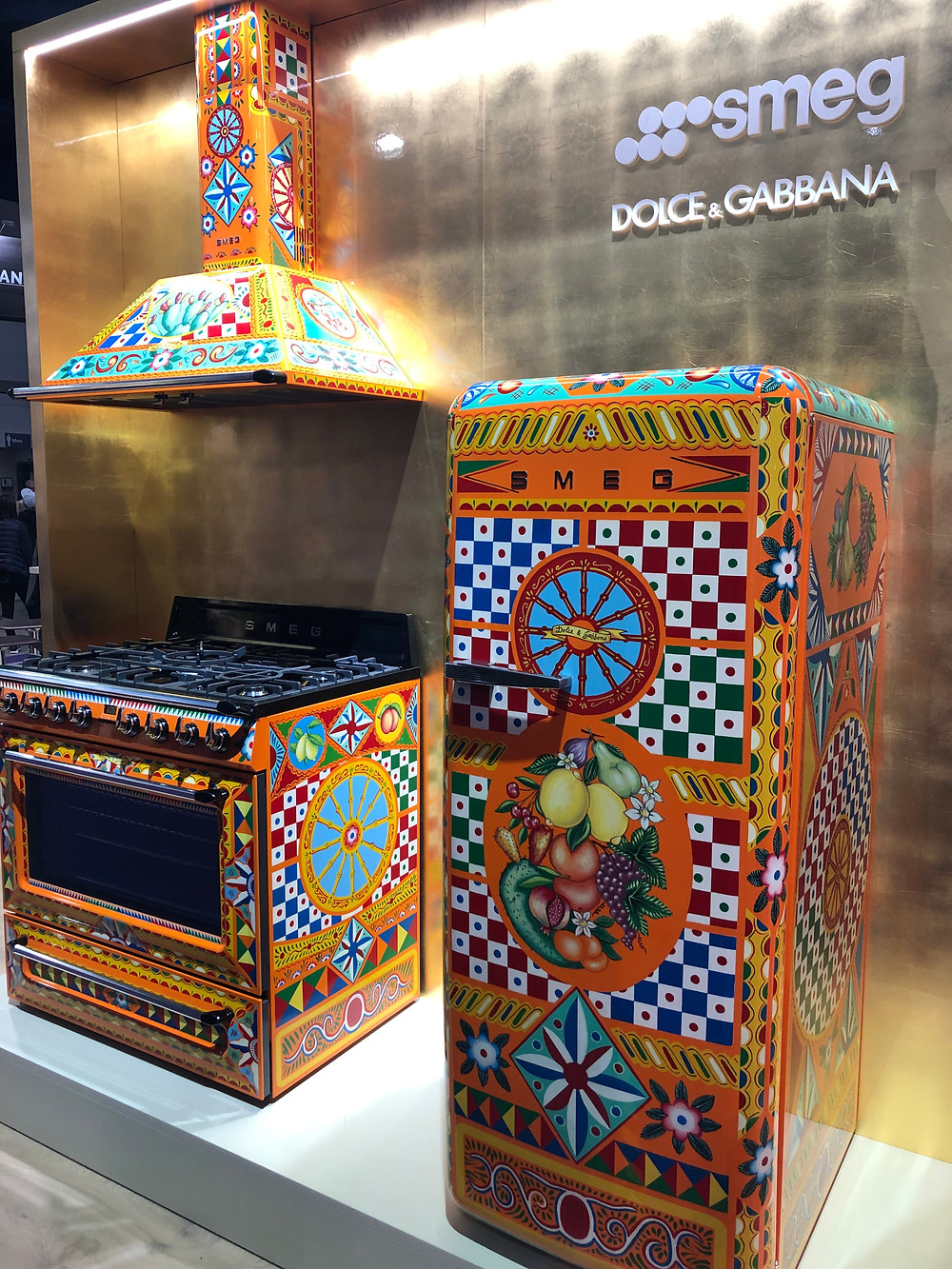 Smeg Dolce & Gabbana hand painted appliances KBIS 2019