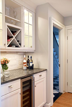 Painted Cabinetry Beverage Center
