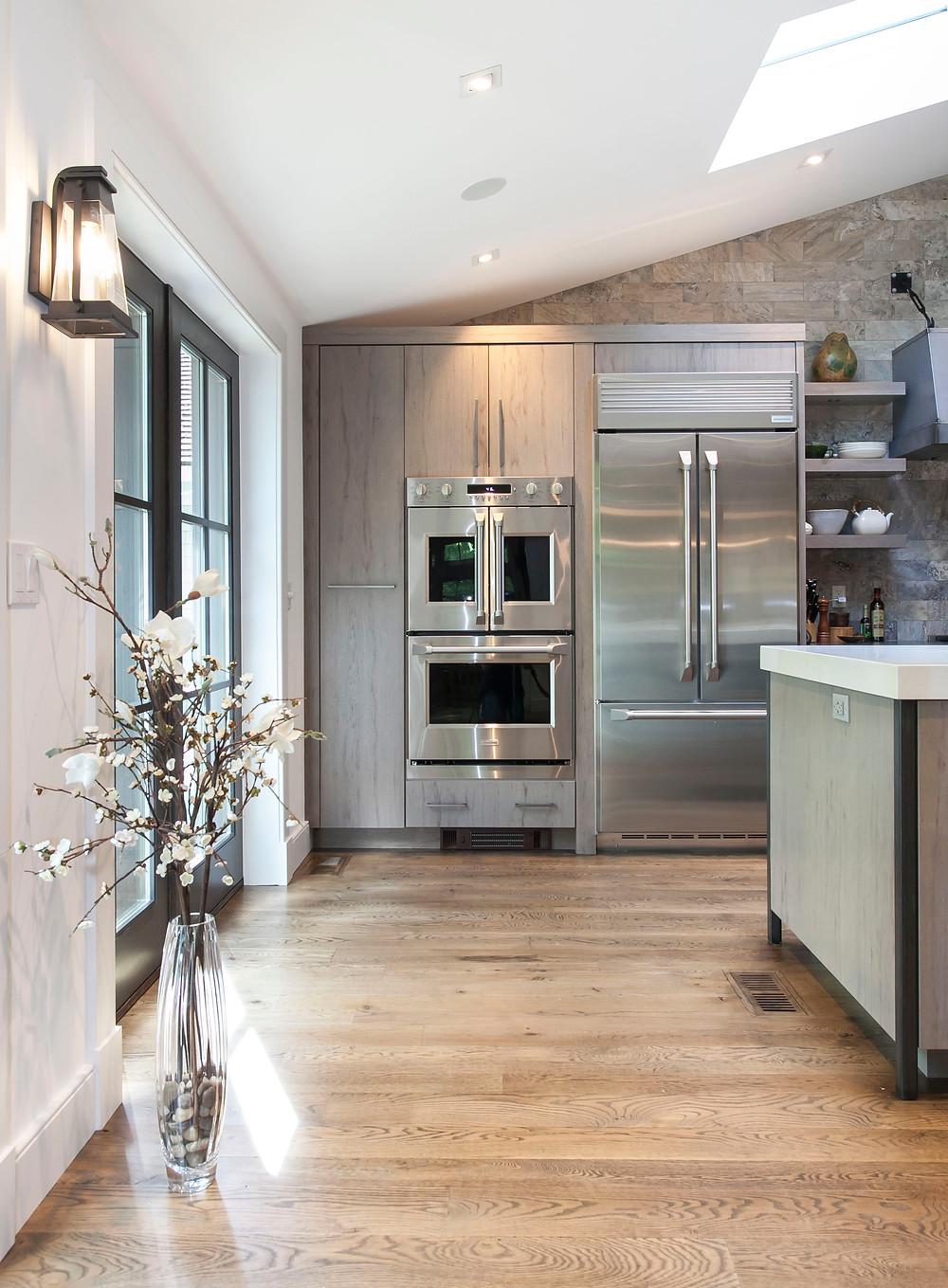 Monogram appliances in contemporary kitchen