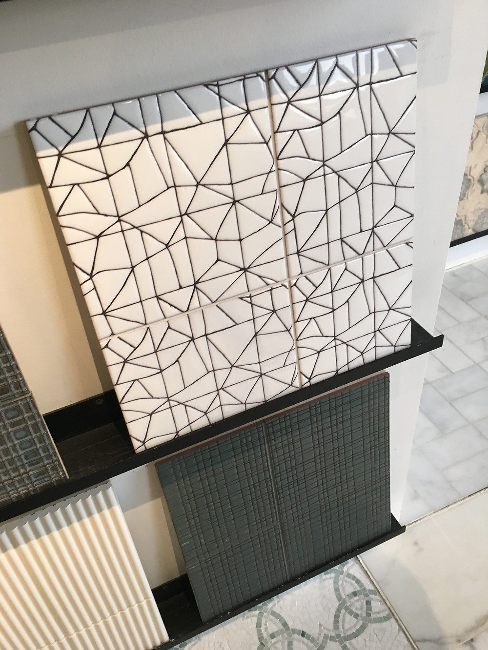 Abstract tile design and texture.