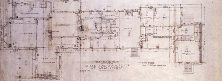 Architectural plans of Hill-Stead
