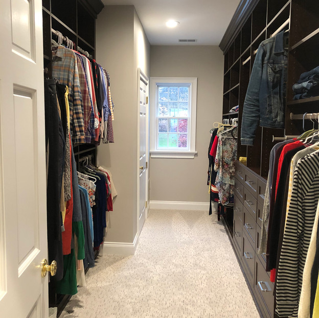 New Life for a Couple's Large, Organized Walk-in Closet