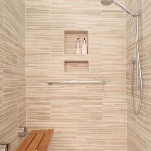 Fold Down Teak Shower Bench