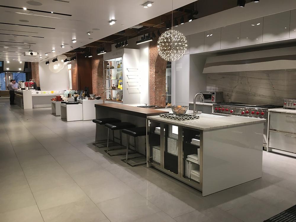 Pirch kitchen displays, SoHo, NYC.