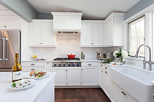 This kitchen features form and function