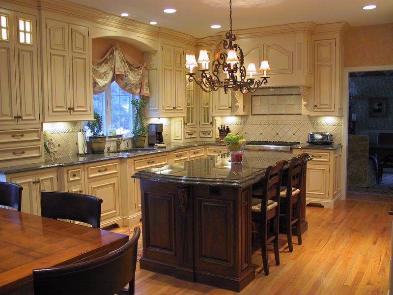 Luxurious kitchen with decorative details