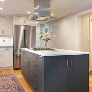 Gas Cooktop and Center Island