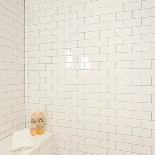 Master Bath Tile Detail with Shower Bench