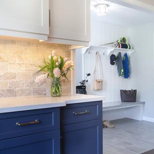 Mudroom Area, Classic Blue & White Kitchen
