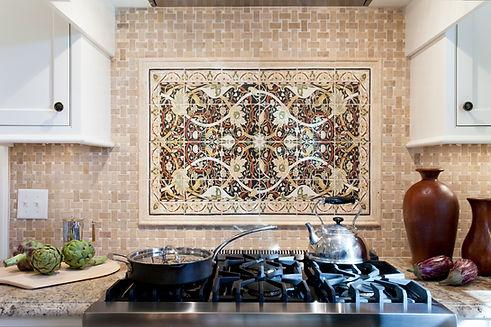 Cooktop Tile Detail Closeup