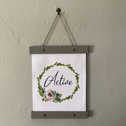 Custom Word of the Year Hanging Canvas Print