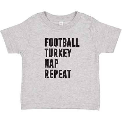 Football Turkey Nap Repeat Toddler