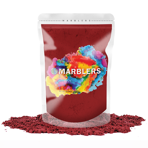 MARBLERS® [Deep Red]  Pure Mica Powder Colorant 3oz (85g)