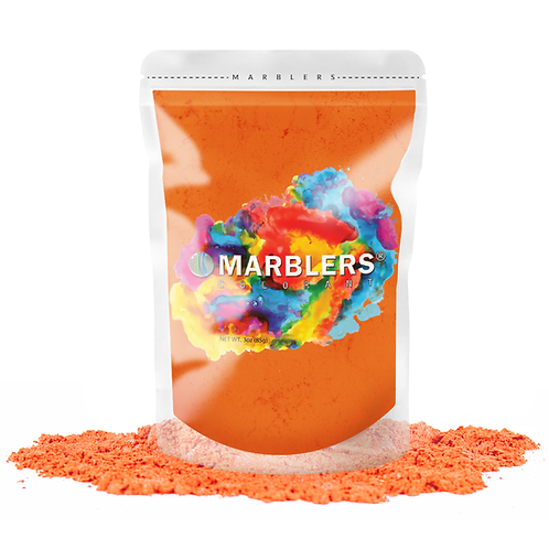 MARBLERS® [Dry Orange]  Pure Mica Powder Colorant 3oz (85g)