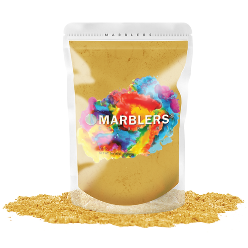 MARBLERS® [Bright Gold]  Pure Mica Powder Colorant 3oz (85g)