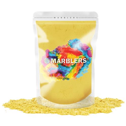 MARBLERS® [Bright Yellow]  Pure Mica Powder Colorant 3oz (85g)