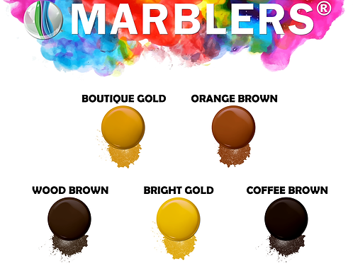 Marblers® Pure Mica Powder Colorant [Brown/Gold] Woodworkers' Pack