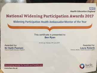 Founder of MOMs Wins Commended Award at Health Education England Widening Participation Awards