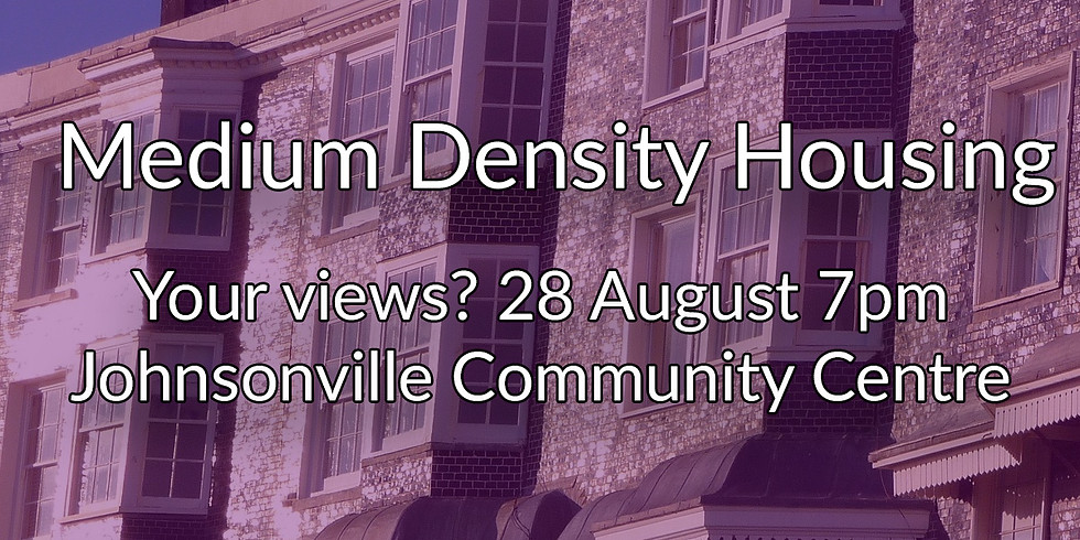 Medium Density Housing Community Meeting