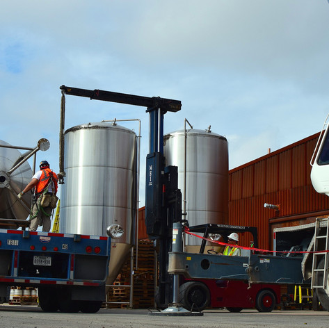 Three new fermenters! We hope you're thirsty, because a whole lot more Alamo Beer is coming your way!