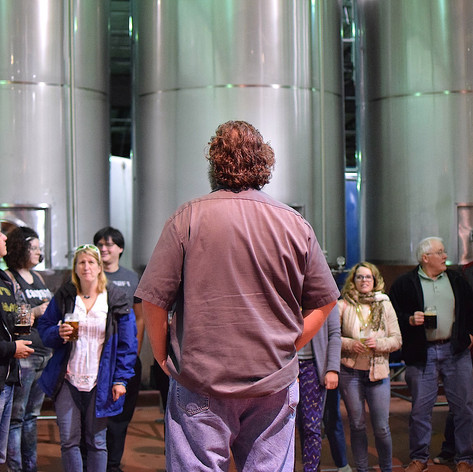 Brewery Tour every Thursday, 6-6:30pm and Saturday, 1-1:30pm. They're free and open to everyone.