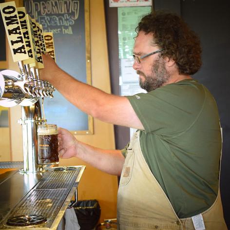 Our brewmaster James Hudec.