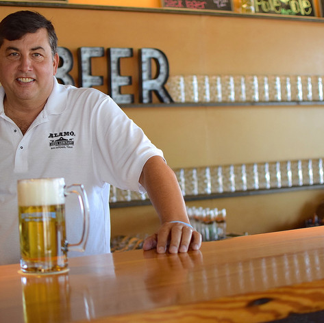 Eugene Simor, our owner, at the beer hall promoting our annual FatherFest.