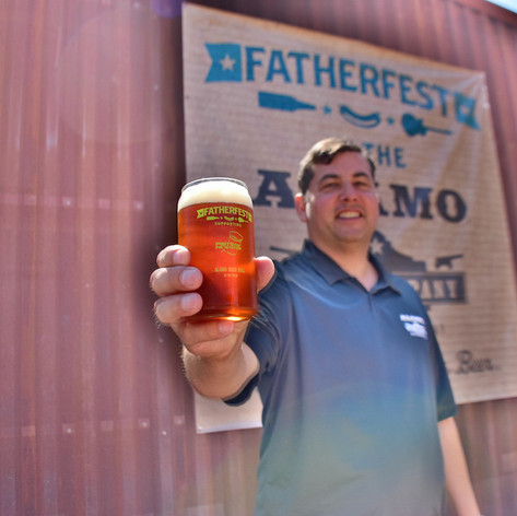 Eugene with our 2016 Father Fest pint glass.