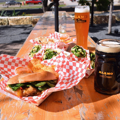 We always have food trucks at the beer hall when we are open to the public.