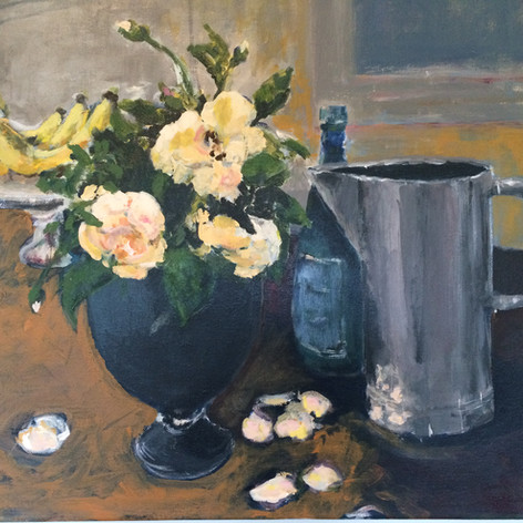 Still Life with Roses and Pitcher