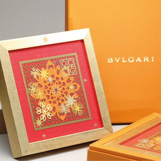 BVLGARI Paper Art Photo Frame, Tailor made corporate gift