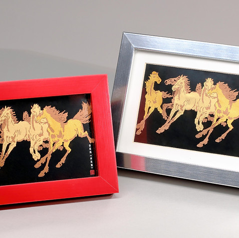 香港賽馬會 徐悲鴻《奔馬圖》紀念相架  HKJC XU BEIHONG  Tailor Made Paper Art Photo Frame
