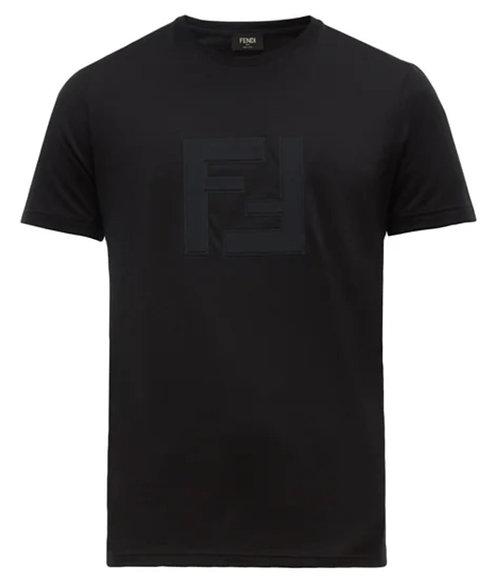 Fendi FF-appliqué cotton-jersey T-shirt