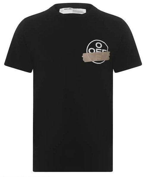 Off-White Tape T Shirt - Black