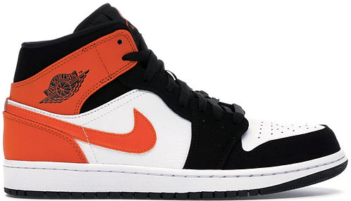 Nike Jordan 1 Mid Orange x Black