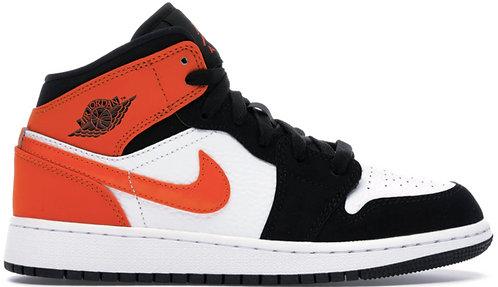 Nike Jordan 1 Mid Orange x Black (GS)