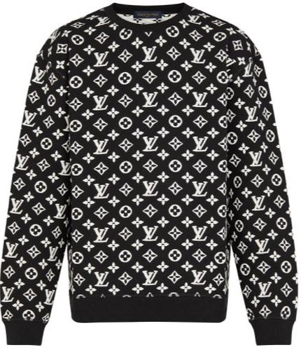 Louis Vuitton Monogram Sweater - Black / White