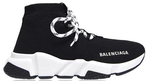 Balenciaga Speed Lace Trainers - Black / White