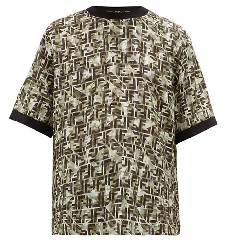 Fendi FF camo-print T-shirt