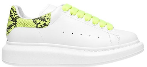 Alexander McQueen Oversized Trainers - White/Yellow