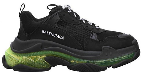 Balenciaga Triple S Sneaker - Clear Black / Yellow