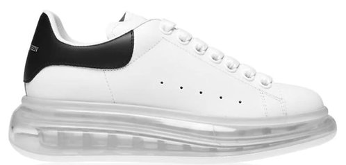 Alexander McQueen Women's Oversized Clear Sneaker - White/Black