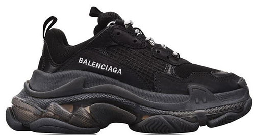 Balenciaga Triple S Clear Sole Trainers - Black