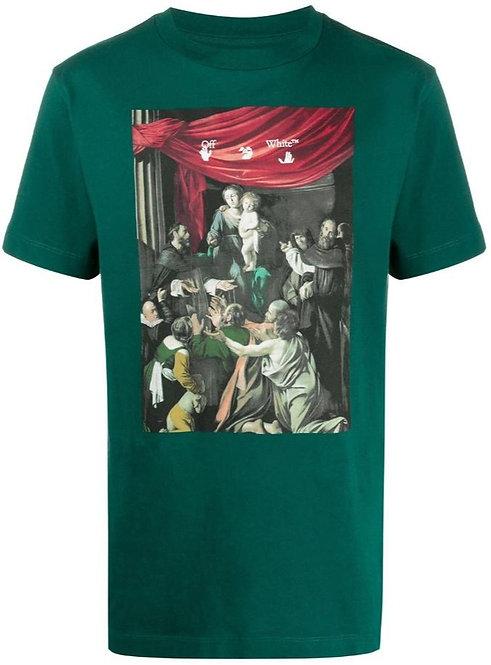 Off-White Caravaggio T Shirt - Green