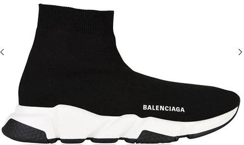 Balenciaga Speed Sock Trainers - Black / White