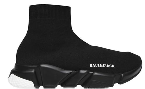 Balenciaga Speed Sock Trainers - Black / Black / White