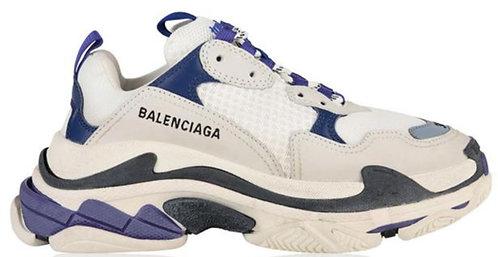 Balenciaga Triple S Trainers - White / Blue