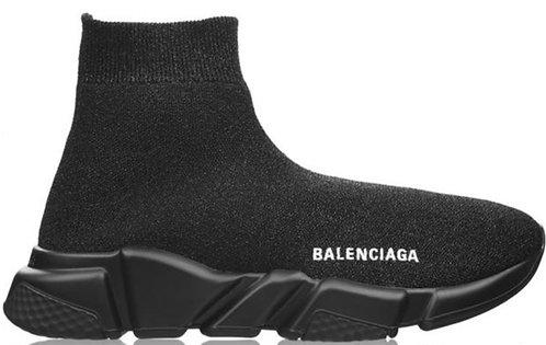 Balenciaga Speed Trainers - Black Lurex