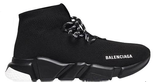 Balenciaga Speed Lace Trainers - Black / Black / White